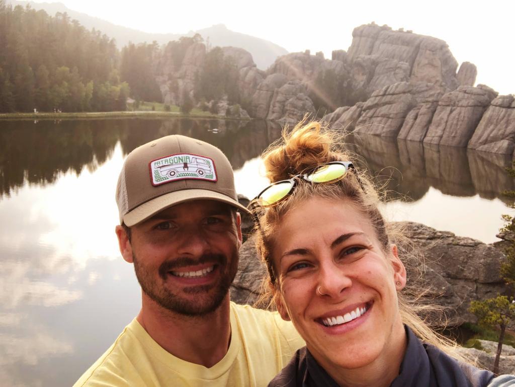 Joe and Emily enjoying a Custer State Park