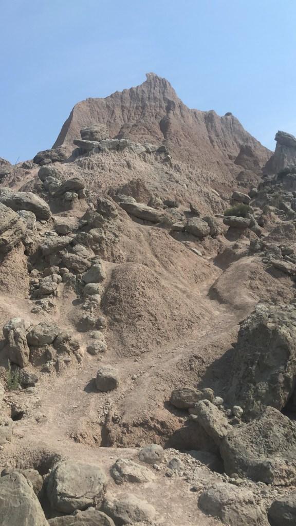 Saddle Pass hike on the way up
