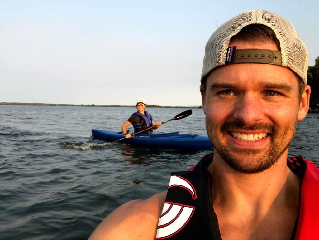 Joe and Email paddling around near Voyageurs National Park
