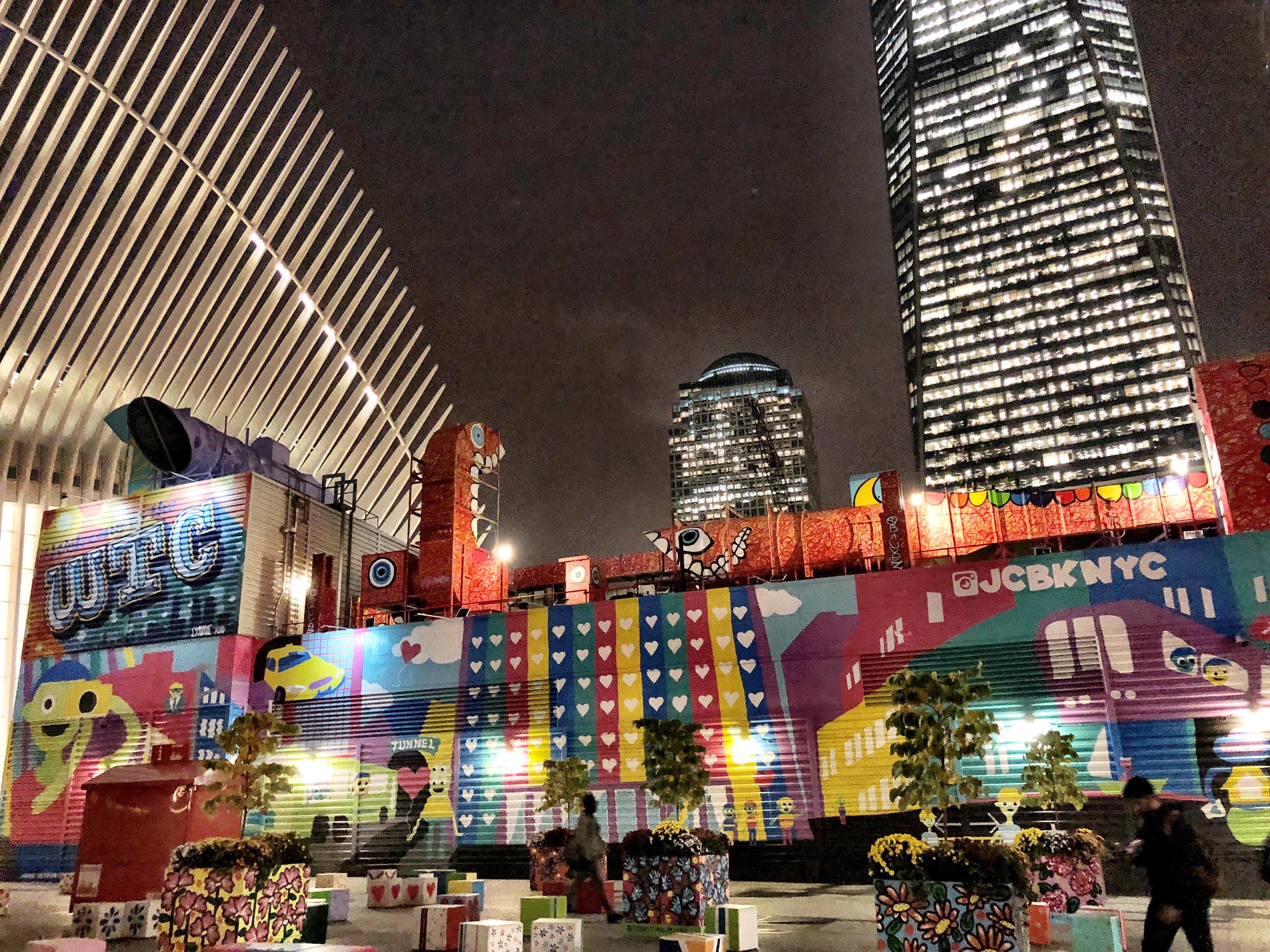 Colorful 911 memorial New York