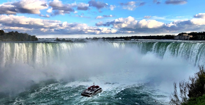Boat at Niagara Falls on the Canada side