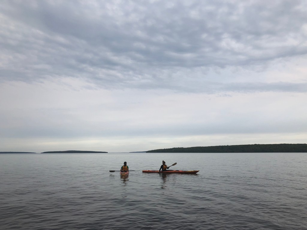 Joe & Emily Kayaking in Apostle Islands