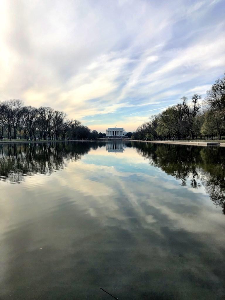 Washington DC Mall looking at Abraham Lincoln memorial