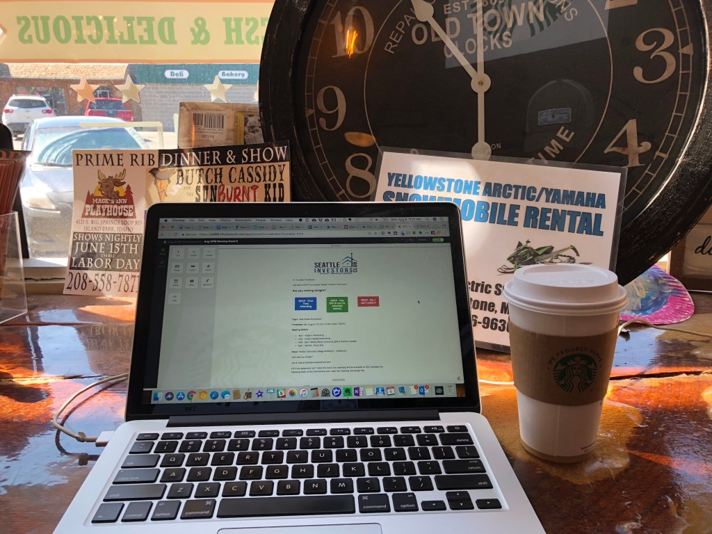 When working from the road we spend a lot of time at coffee shops like this.