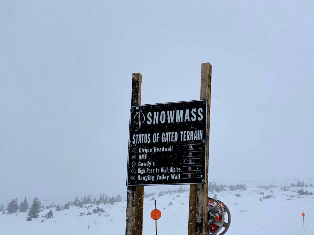 Snowmass terrain gates