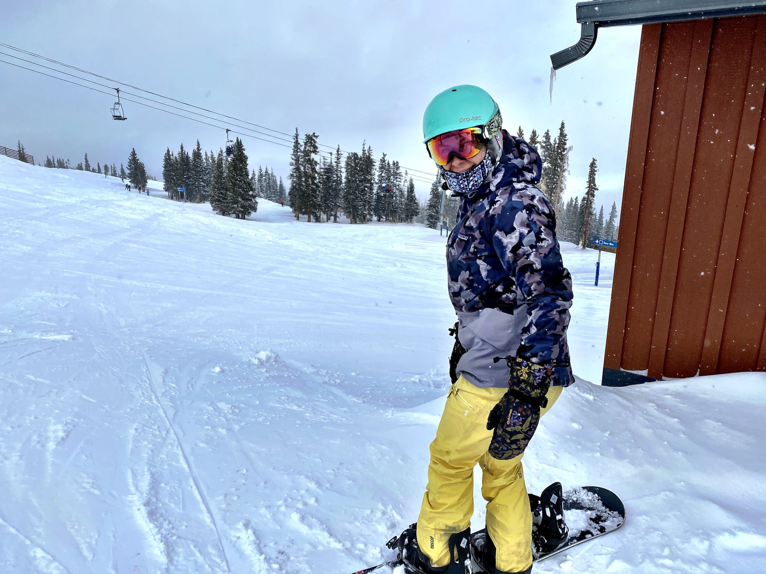 Emily getting ready to rip at Snowmass