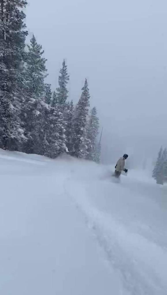 Joe riding the pow at Copper Mountain