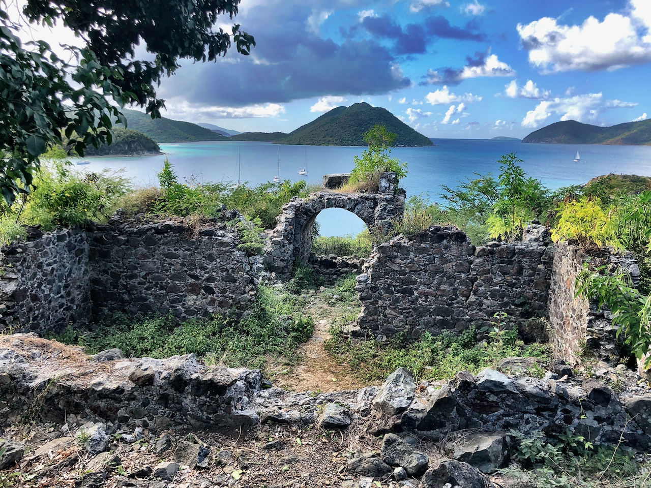 Ruins near Waterlemon Bay in US Virgin Islands National Park