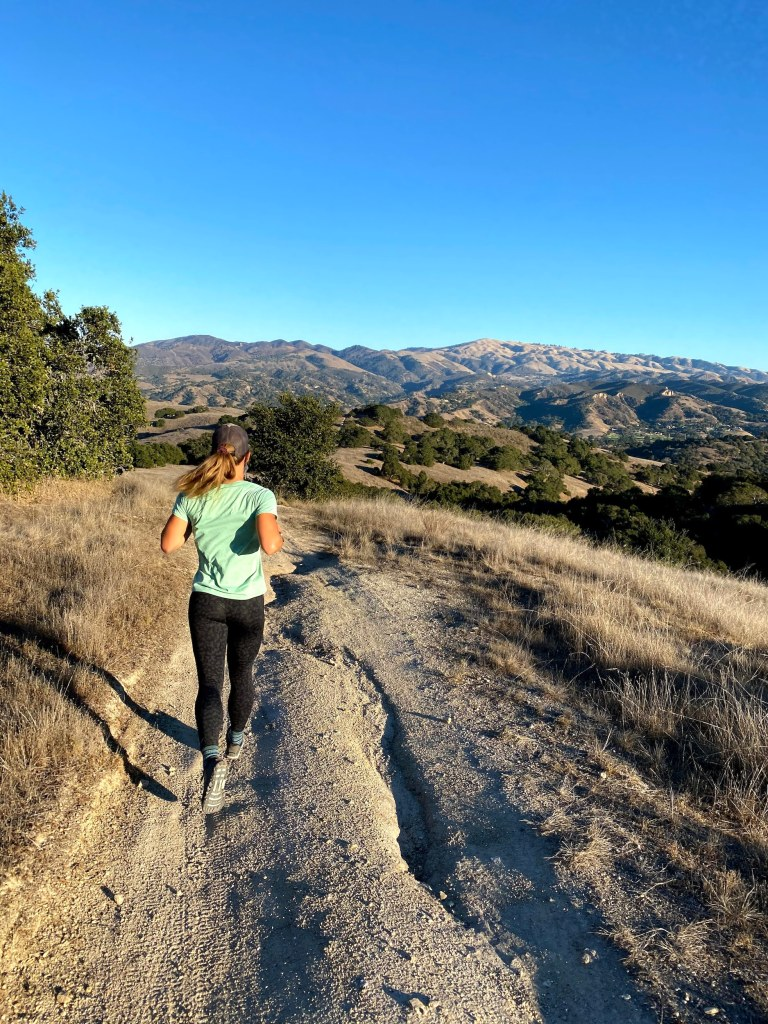 Emily running in Monterey CA
