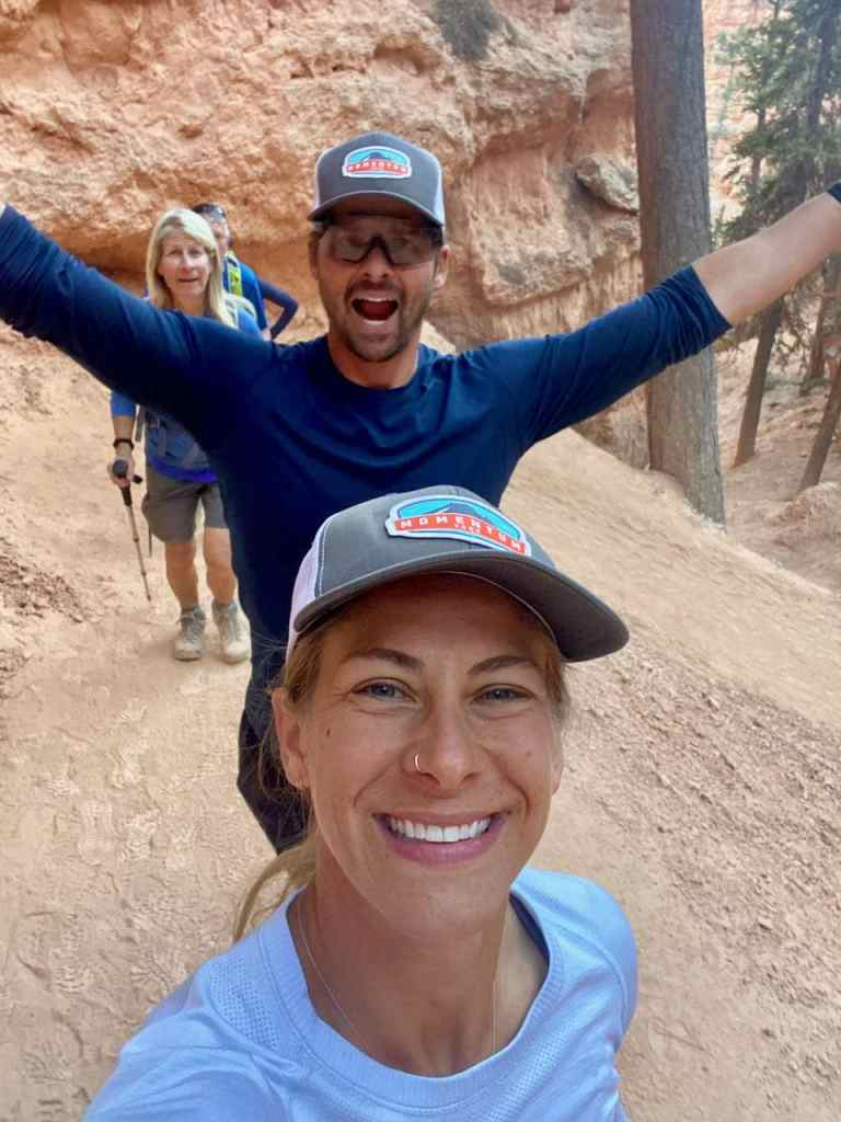 Joe and Emily in Bryce Canyon National Park