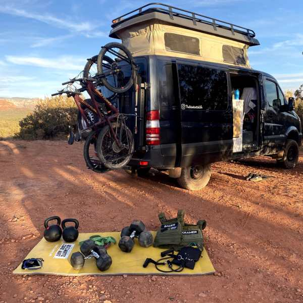 Van/RV Gym Setup in Sedona AZ