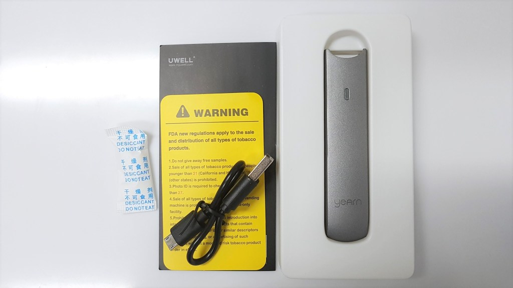 Uwell Yearn Pod Kit Contents