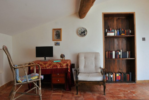 rustic double room library