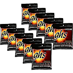 GHS Boomers Light Roundwound Electric Guitar Strings (10-Pack) Standard