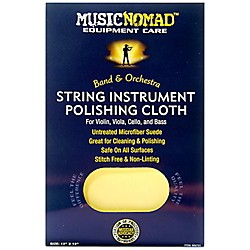 Music Nomad String Instrument Microfiber Polishing Cloth for Violin, Viola, Cello & Bass 12 x 12 in.