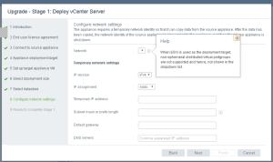 vCenter migration no network