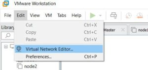 VMware Workstation Network editor