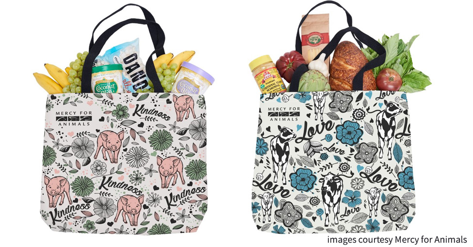 reusable shopping bag vegan