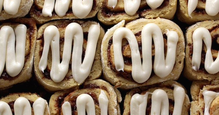cinnamon rolls, vegan and gluten free