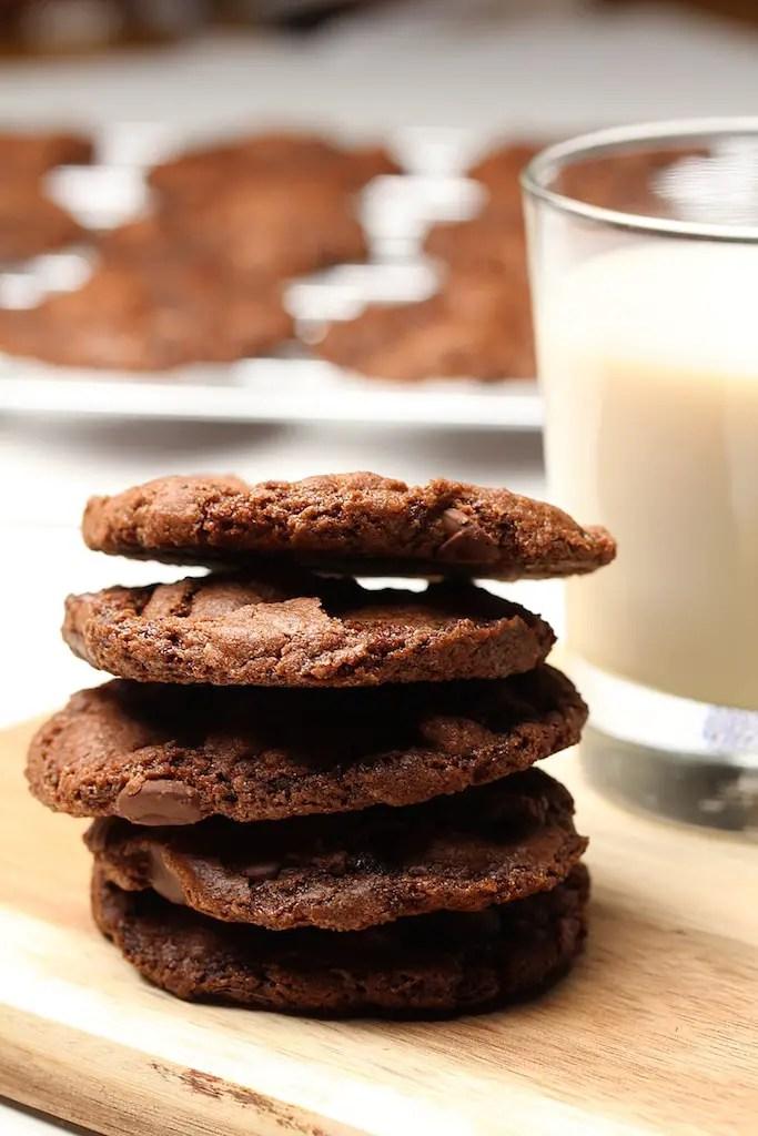 double chocolate cookies vegan gluten-free