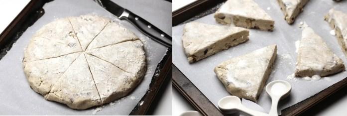 vegan cardamom scones gluten free dates walnuts