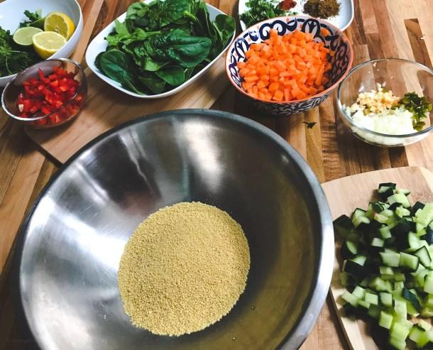 Couscous salad group shot