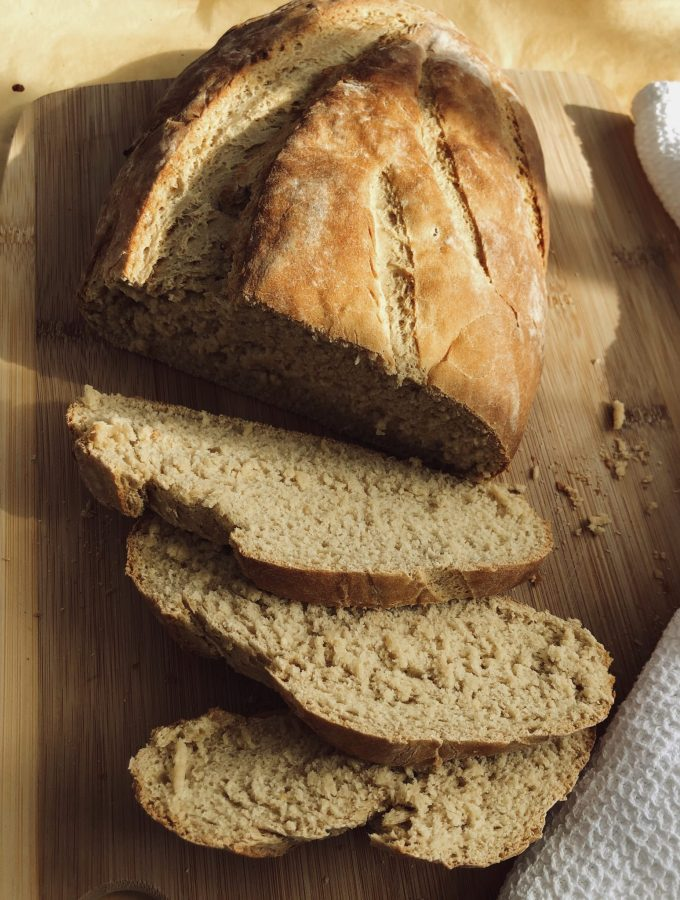 Easy home baked yeast bread