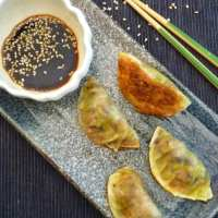 Mushroom Gyoza- Little Samurai Dumplings of Deliciousness
