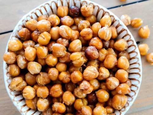 Crispy Chickpea Snacks in a bowl