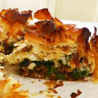 Chickpea, Butternut & Spinach Pie.