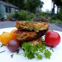 Courgette & White Bean Fritters