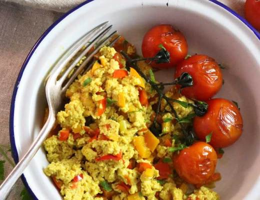 Tofu Scramble with tomatoes