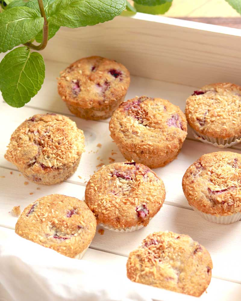 Plum and Cinnamon Fruity Coconut Muffins