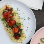 Lemony Orzo Pasta with Roasted Veggies from the top