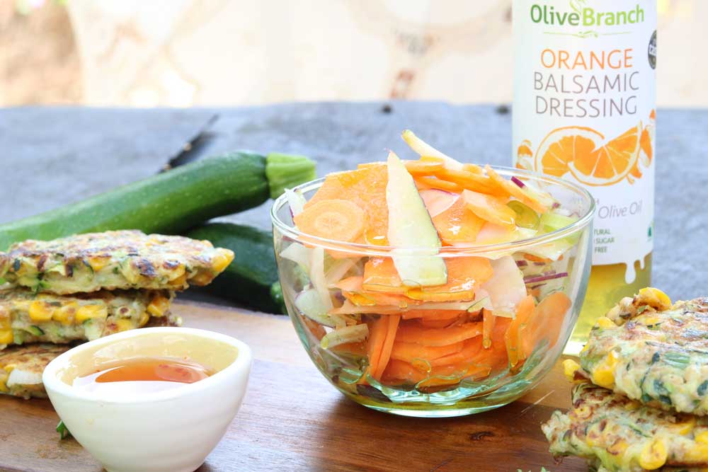 Kohlrabi orange and carrot salad