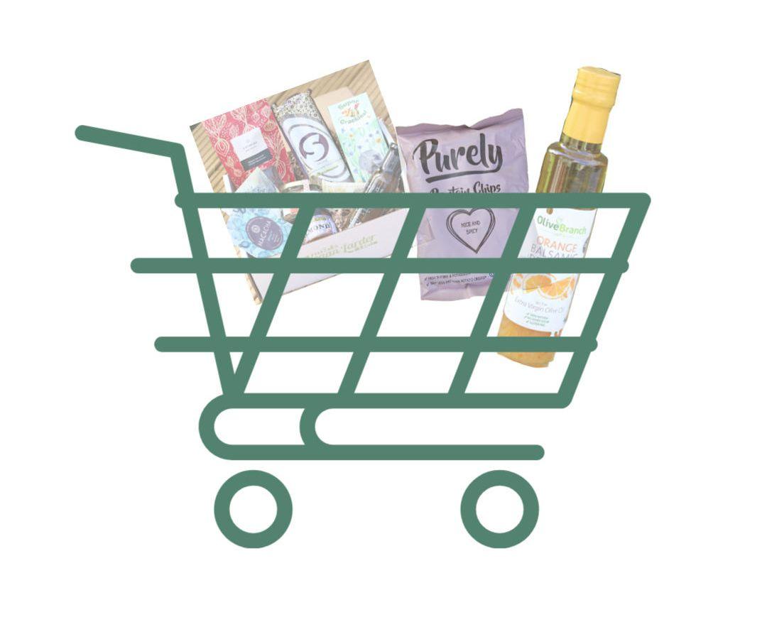 Shopping Cart with Vegan shopping