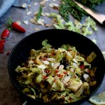 Perfect Garlic Greens in frying pan