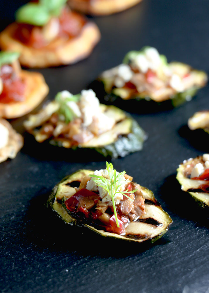 Grilled Courgette Canape