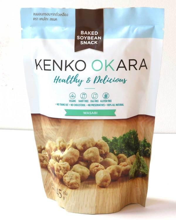 Kenko Okara Wasabi 'pea' snacks