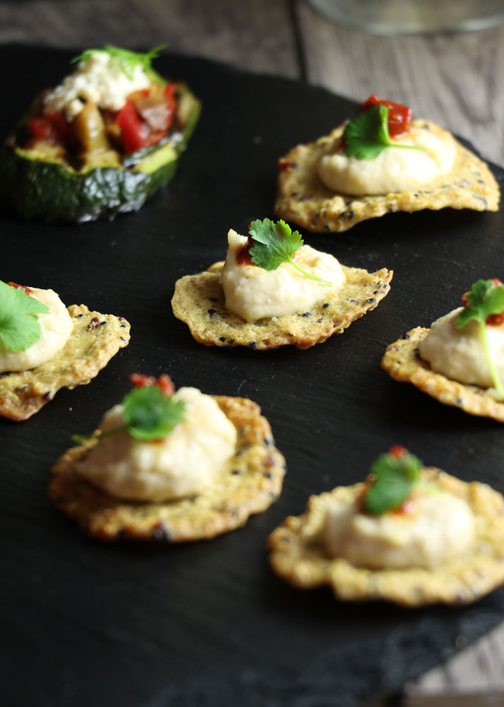 Tricolore Crackers Canape