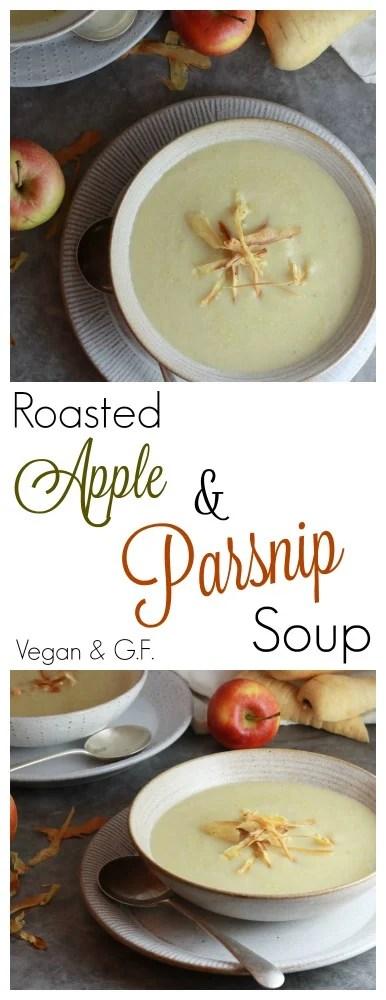 Parsnip and apple soup pinterest