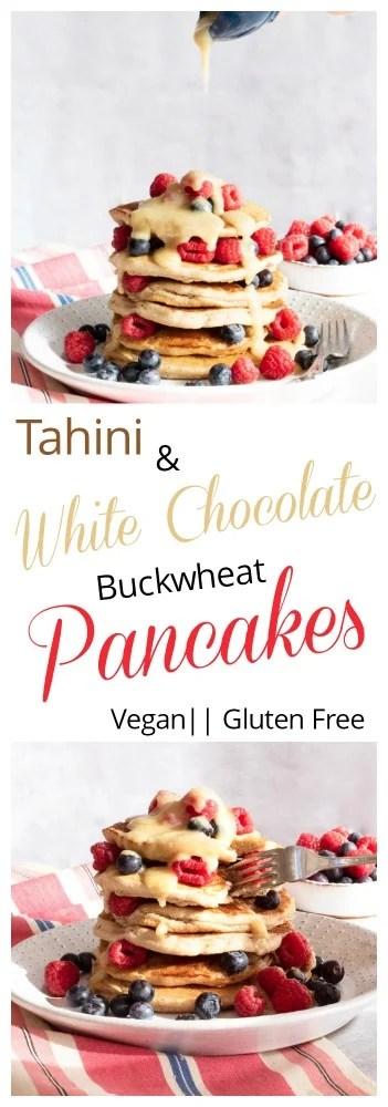 Tahini and White Chocolate Pancakes
