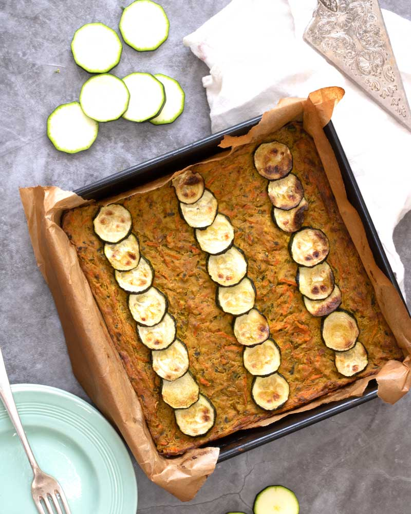 Courgette & Leek Frittata from the top