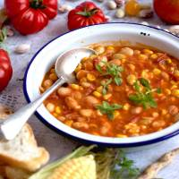 Borlotti Bean, Sweet Corn & Tomato Late Summer Stew