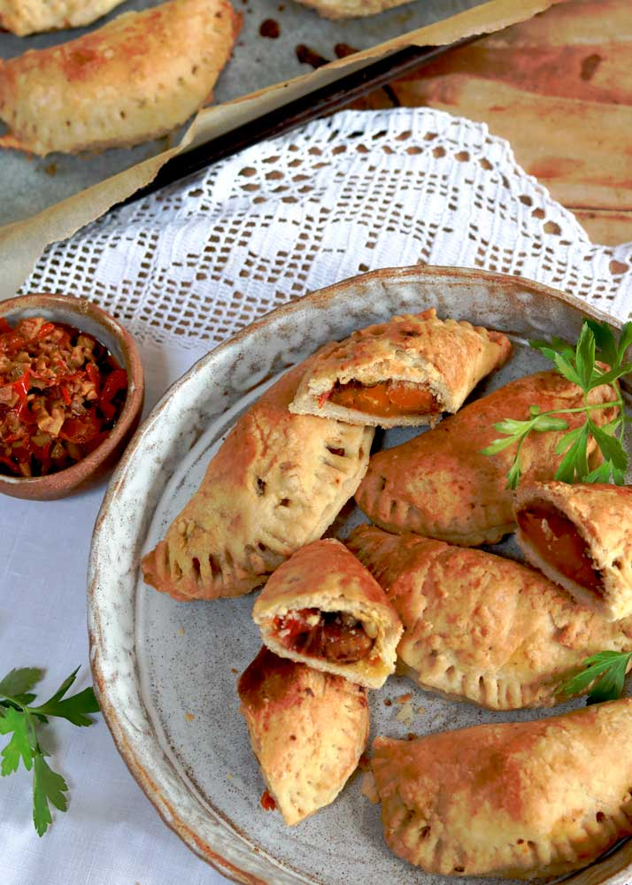 Spiced Butternut Squash Empanadas on a plate