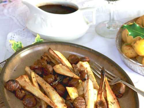 Parsnips with Chestnuts on the Christmas Table