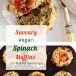 Savoury Spinach Muffins. Vegan. For pinterest