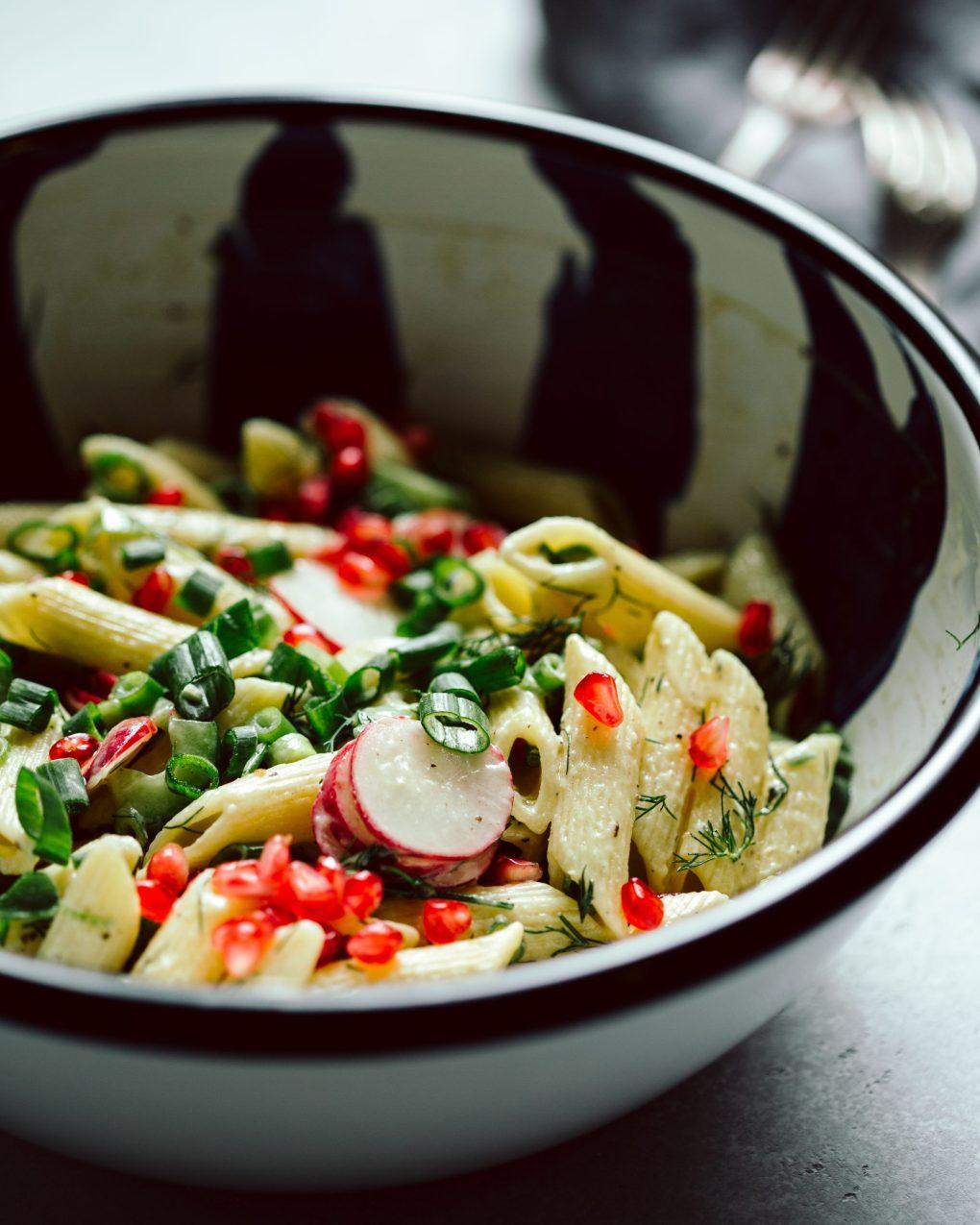 Veganer Nudelsalat (ohne Mayo)