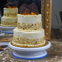 Easy Tiered Almond Cake