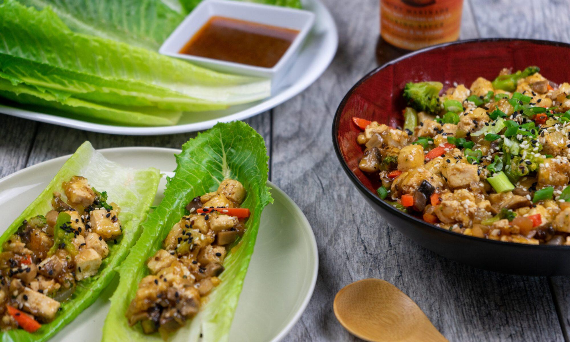 Asian Lettuce Wraps - The Vegan Rhino
